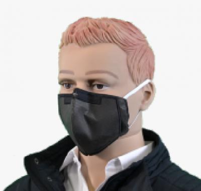 Stoffmaske für Mund und Nase schwarz (10er Pack)