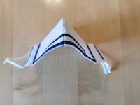 Stoffmaske für Mund und Nase weiss mit color (10er Pack)